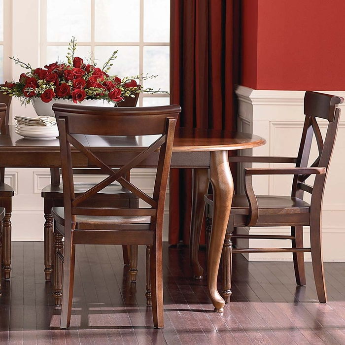 """Bassett Furniture Dining Chairs: Custom 44"""" Oval Dining Table"""