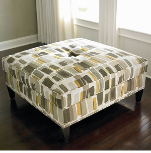 Custom Square Ottoman by Bassett Furniture