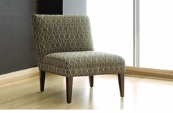 elle small modern armless chair