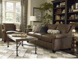 Ellery Custom Leather Great Room Sofa by Bassett