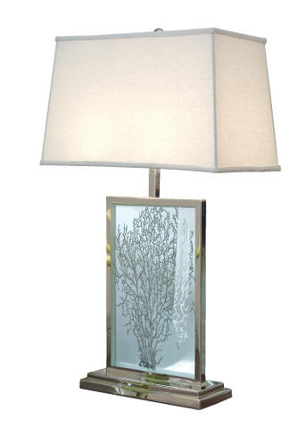 etched sea fan lamp
