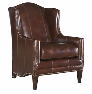 Fleming Leather Chair by Bassett Furniture