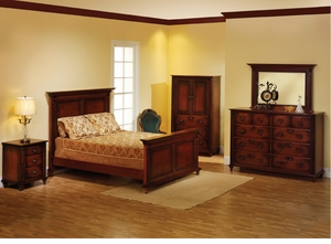 Fur Elise Amish Panel Bedroom Set