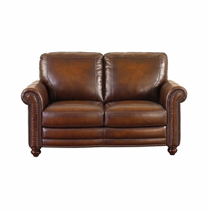 Hamilton Leather Loveseat by Bassett Furniture