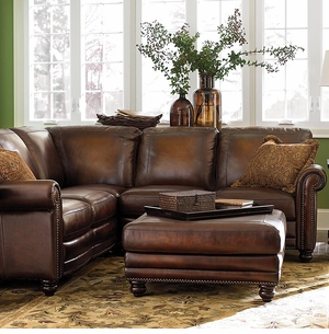Hamilton Leather Sectional Sofa by Bassett Furniture : leather sectionals for sale - Sectionals, Sofas & Couches