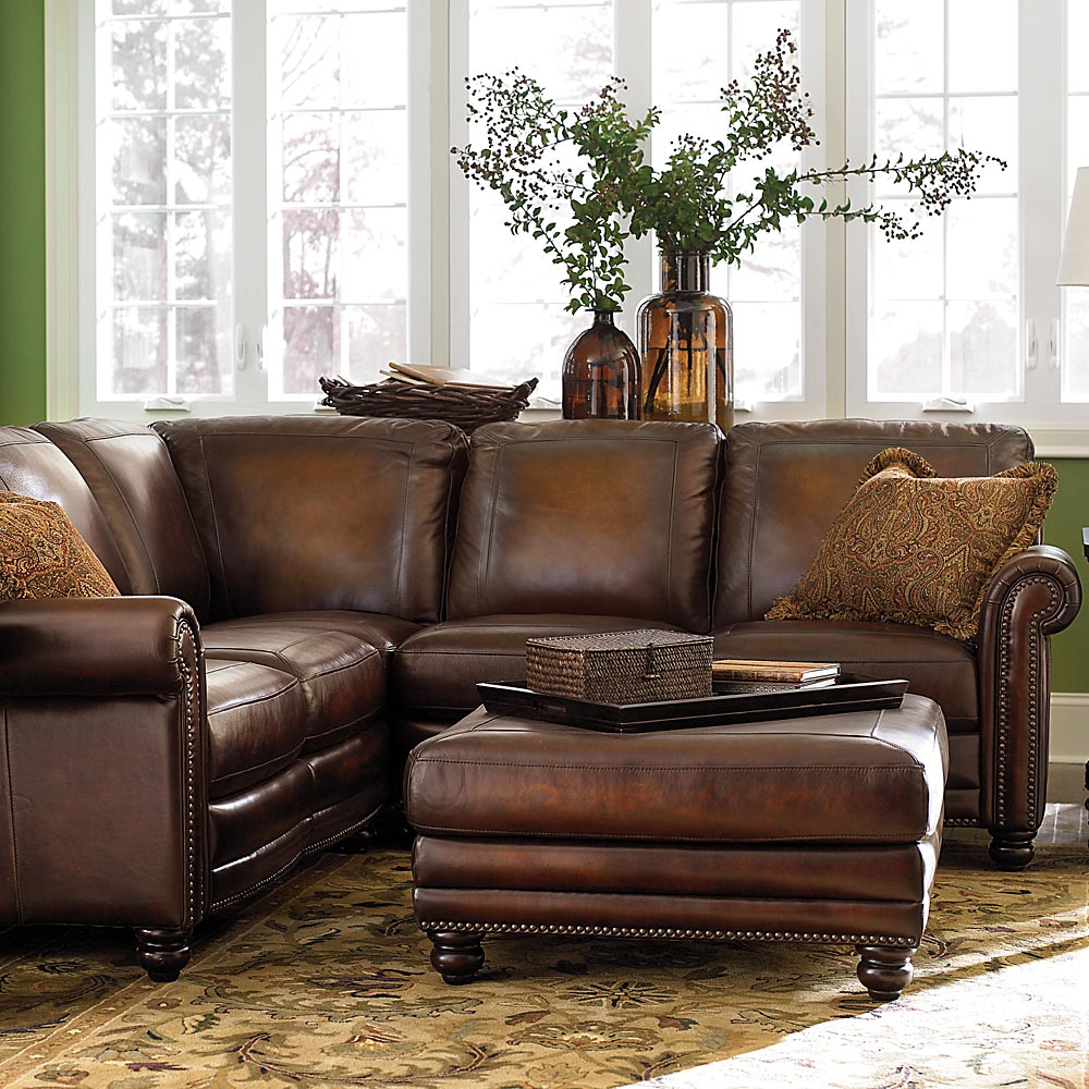 Hamilton Leather Sectional Sofa By Bassett Furniture