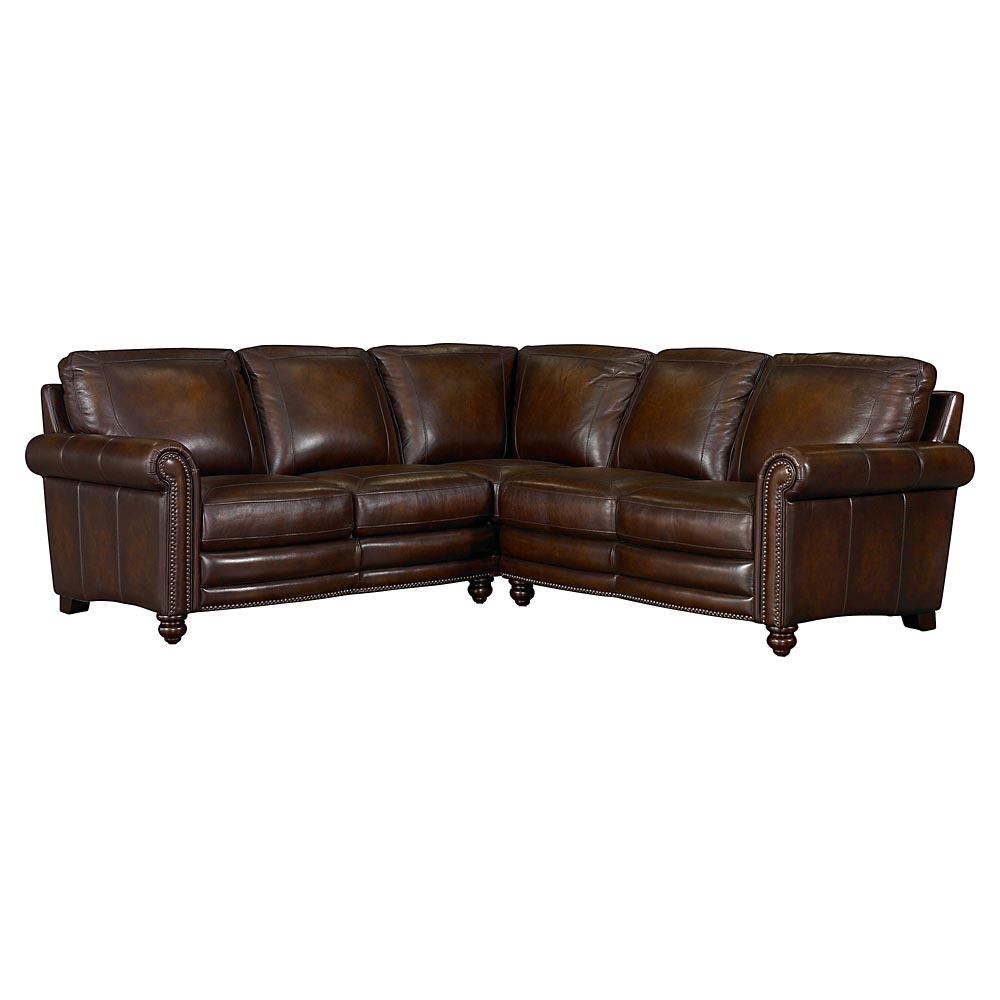 Hamilton leather sectional sofa by bassett furniture for Home style furniture hamilton