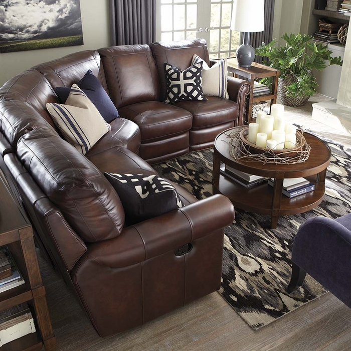 Hamilton Reclining Sectional Sofa by Bassett reclining sectional
