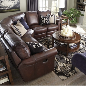 hamilton reclining sectional sofa by bassett