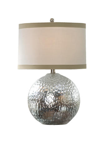 hammered sphere table lamp