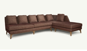harper modern armless sectional