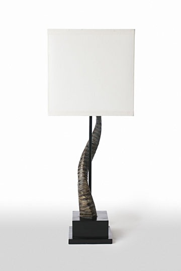 horn table lamp with shade