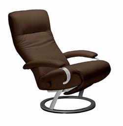 Kiri Leather Recliner by Lafer