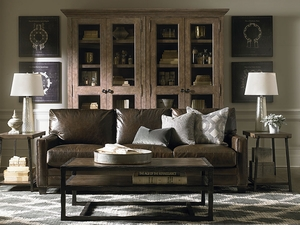 Ladson Custom Leather Great Room Sofa by Bassett