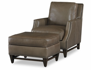 American Naturals Leather Down Cushion Chair