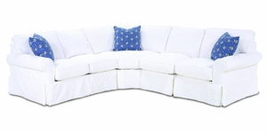 Masquerade Slipcovered Sectional Sofa by Rowe