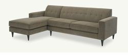 Miller Retro Modern Sectional Sofa