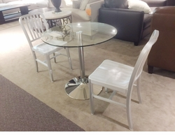 Modern Glass Top Kitchen Table