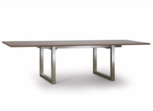 Modern Steel Base Dining Table