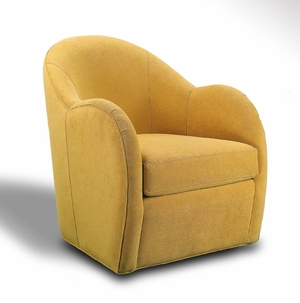 modern swivel chair buttercup by younger furniture