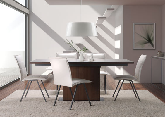 Modern Wood Expansion Dining Table