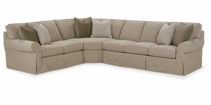 Morgan Slipcover Sectional Sofa by Rowe