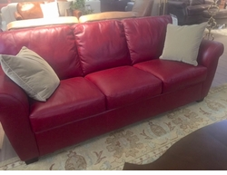 Natuzzi A121 Sofa in Red Leather