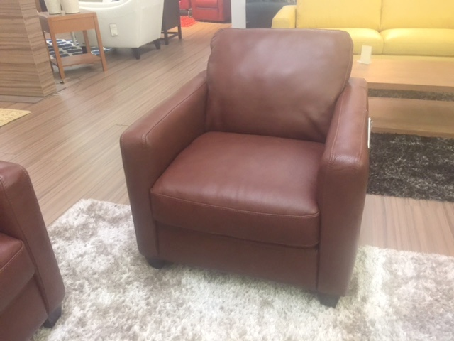 Natuzzi B591 Chair in Brown Leather