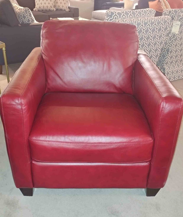 Natuzzi B591 Chair In Red Leather Mega Clearance Sale