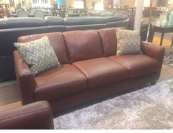 Natuzzi B591 Sofa in Brown Leather