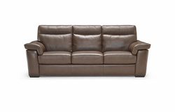 Natuzzi B757 Leather Electric Reclining Sofa in Brown