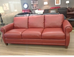 Natuzzi Editions Leather Sofa with Nailheads