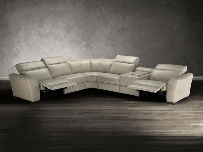 natuzzi editions sectional sofa b708