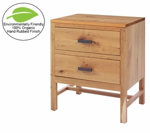 Amish Organic Finish Solid Cherry Nightstand