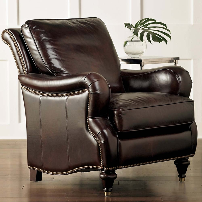 Bassett Chairs: Oxford Comfortable Leather Chair By Bassett Furniture