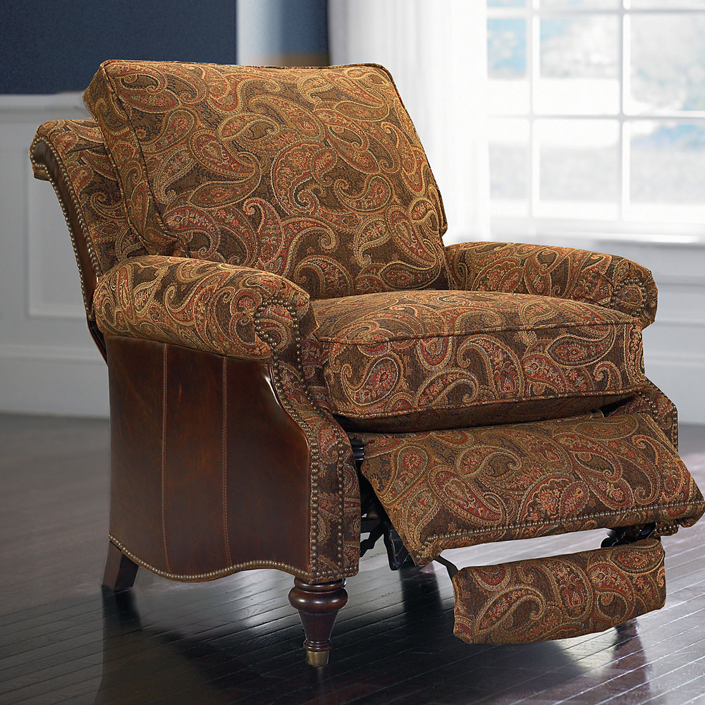 Oxford Leather Accent Recliner By Bassett   Bassett Chairs, Recliners U0026  Ottomans