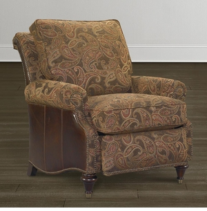 Oxford Leather Accent Recliner by Bassett
