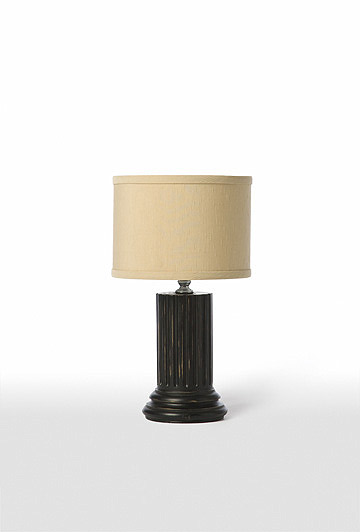 pair of mini column table lamps