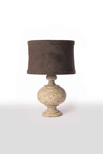 pair of table lamps with suede shades