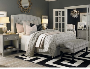 Paris Arched Wing Upholstered Bed by Bassett