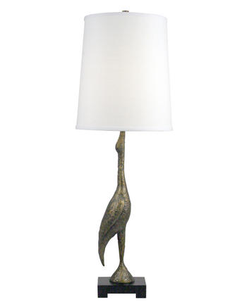 sculptural shore bird lamp