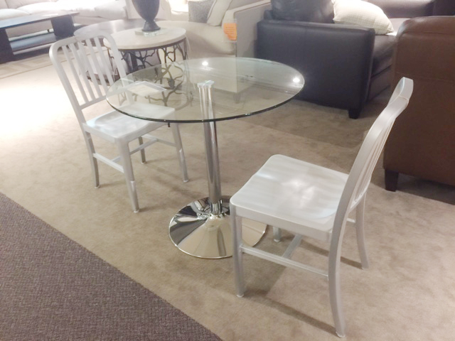 Set of two retro modern aluminum chairs