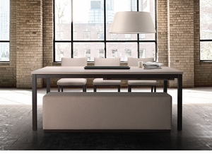 Simple Modern Wood Top Dining Table