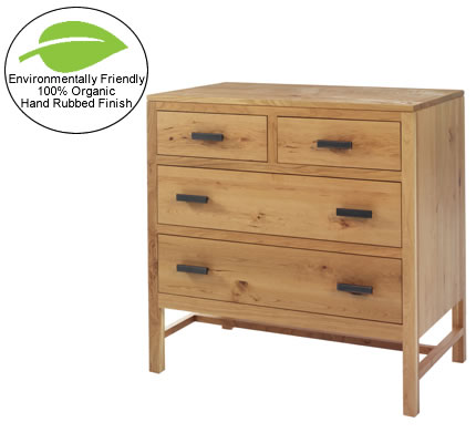Amish Solid Wood Small Chest of Drawers