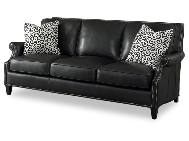 Tappan Leather Sofa by Bradington-Young