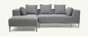 Velvet Modern Sectional by Younger Furniture