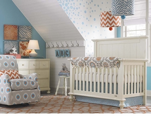 Wakefield Convertible 4 in 1 Crib in Restoration White