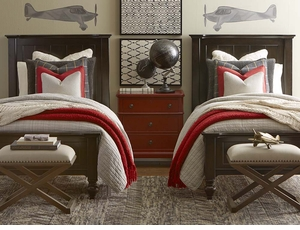 Wakefield Twin Panel Bed by Bassett Furniture