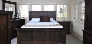 Amish Walnut Grove Panel Bed