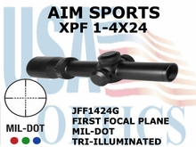 AIM SPORTS XPF 1-4X24 MIL-DOT TRI-ILLUMINATED